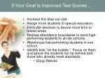 if your goal is improved test scores