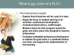 what is our vision of a plc