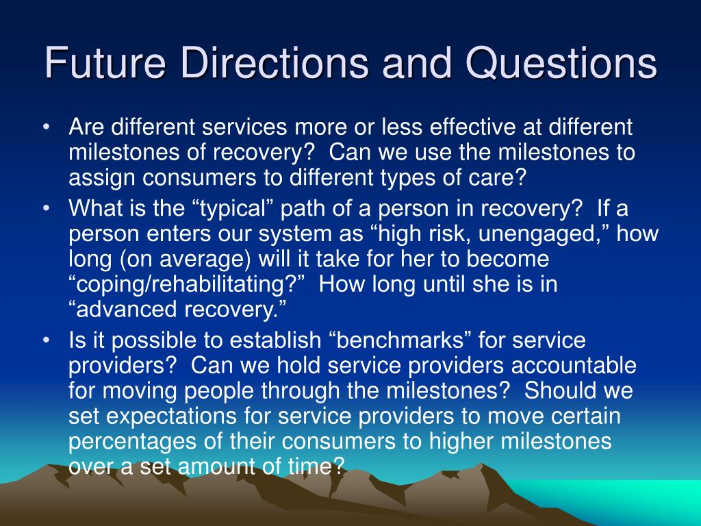 Future Directions and Questions