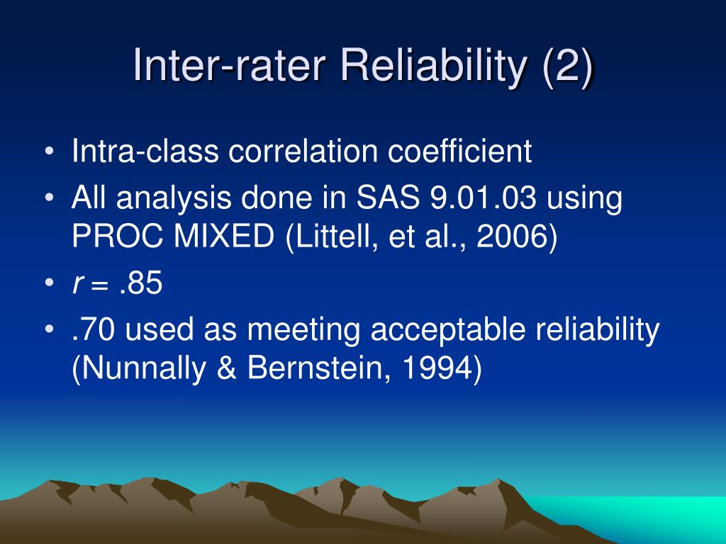 Inter-rater Reliability (2)