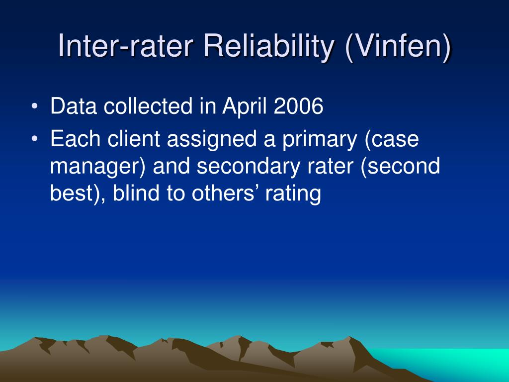 Inter-rater Reliability (Vinfen)