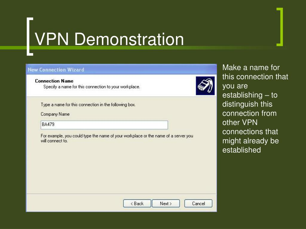 VPN Demonstration