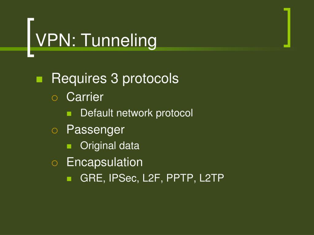 VPN: Tunneling