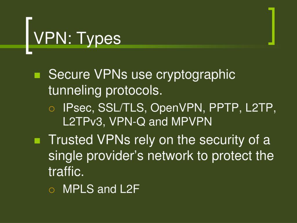 VPN: Types