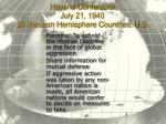 havana conference july 21 1940 20 western hemisphere countries u s