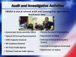 audit and investigative activities