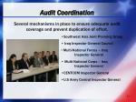 audit coordination
