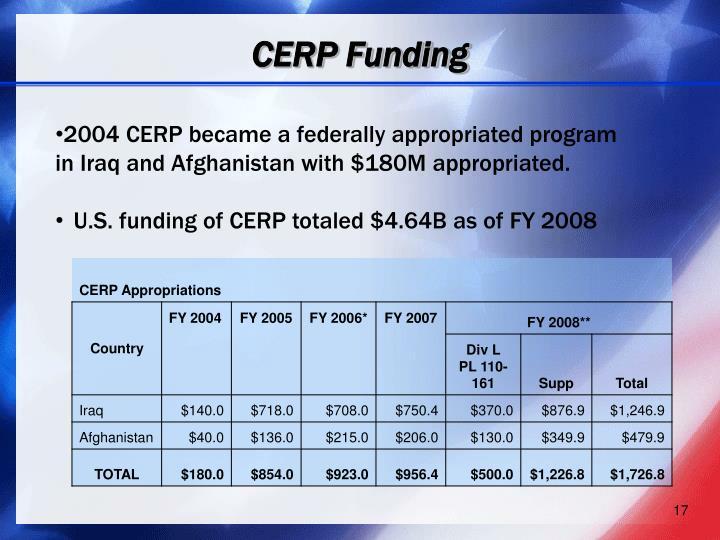 CERP Funding