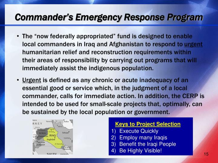 Commander's Emergency Response Program