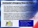 commander s emergency response program