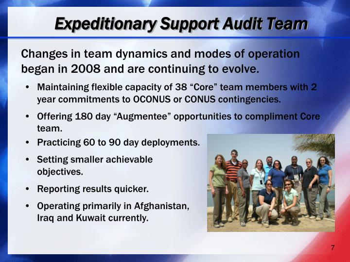 Expeditionary Support Audit Team
