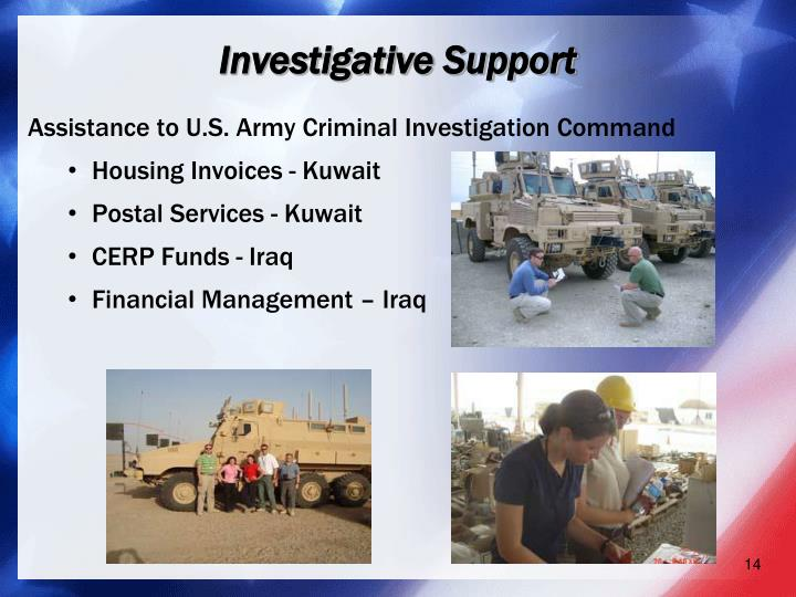 Investigative Support