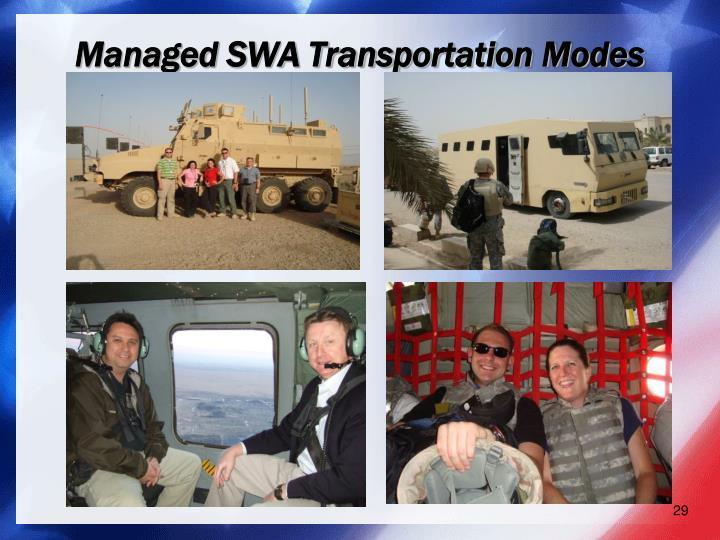 Managed SWA Transportation Modes