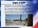 origins of cerp