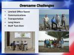 overcame challenges