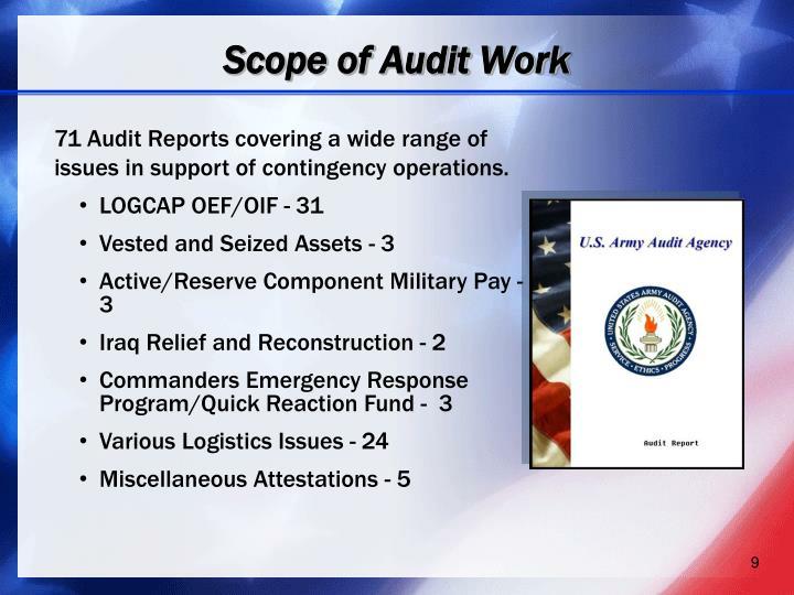 Scope of Audit Work