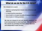 what do we do for the u s army