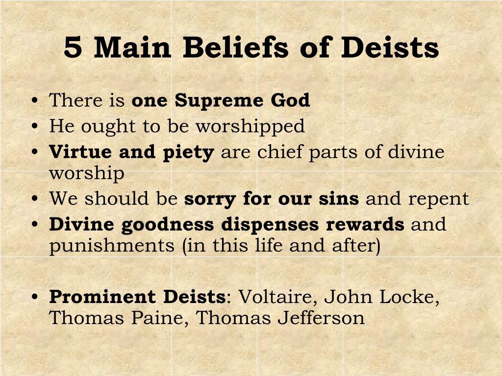 5 Main Beliefs of Deists