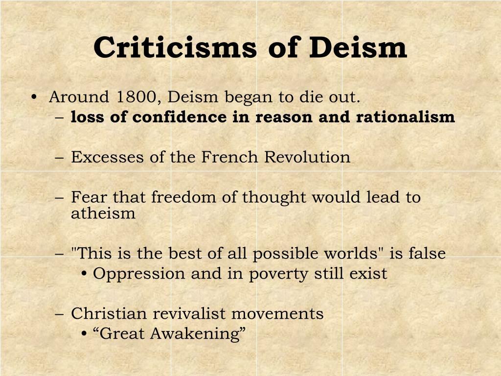 Criticisms of Deism