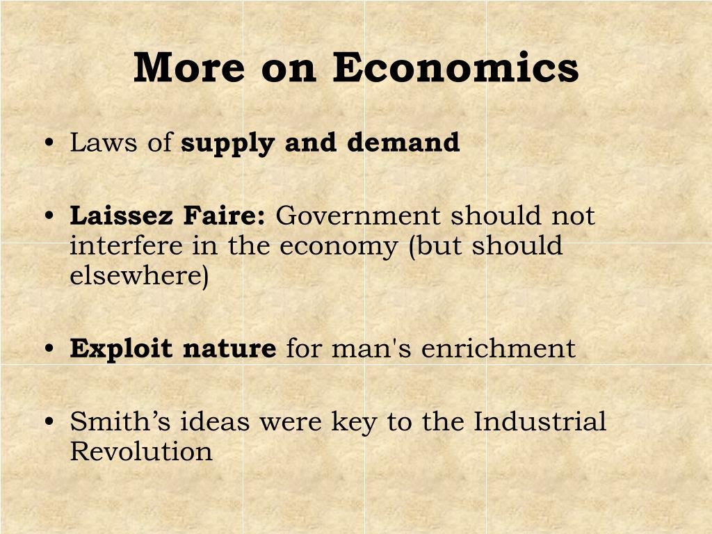 More on Economics