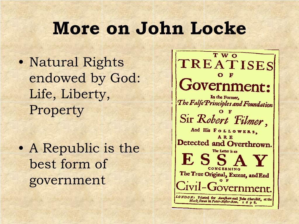 More on John Locke