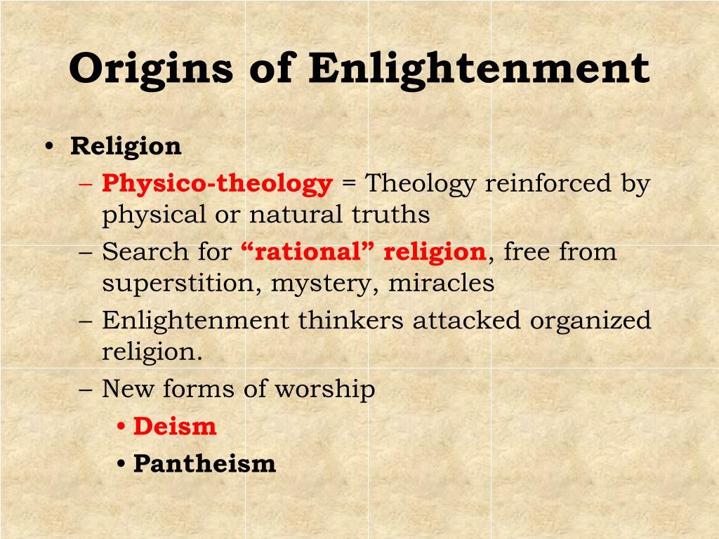 Origins of Enlightenment
