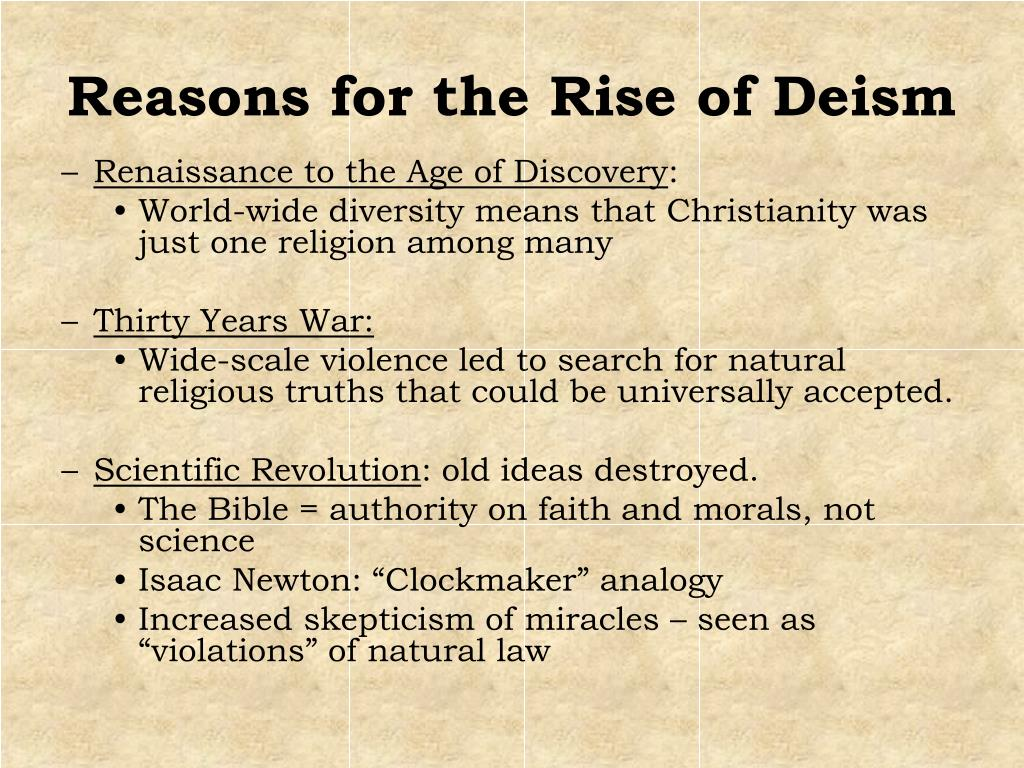 Reasons for the Rise of Deism