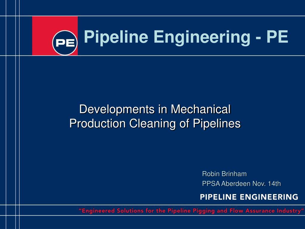 pipeline engineering pe