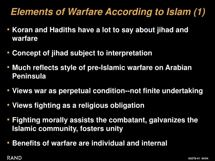 Elements of Warfare According to Islam