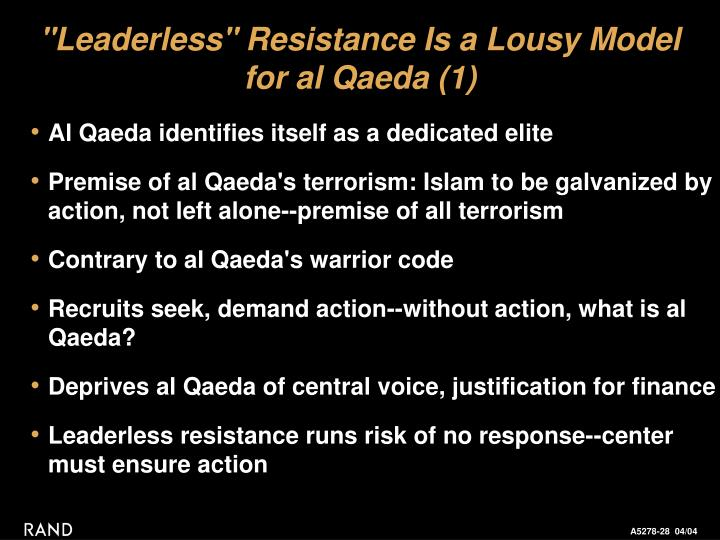 """Leaderless"" Resistance Is a Lousy Model"