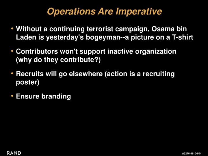 Operations Are Imperative
