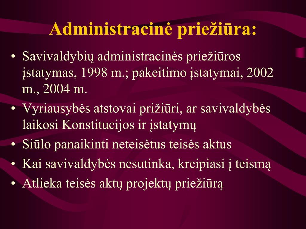 Administracinė priežiūra: