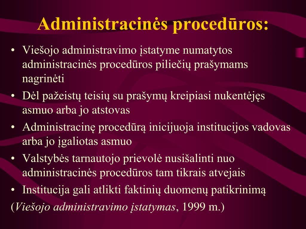 Administracinės procedūros: