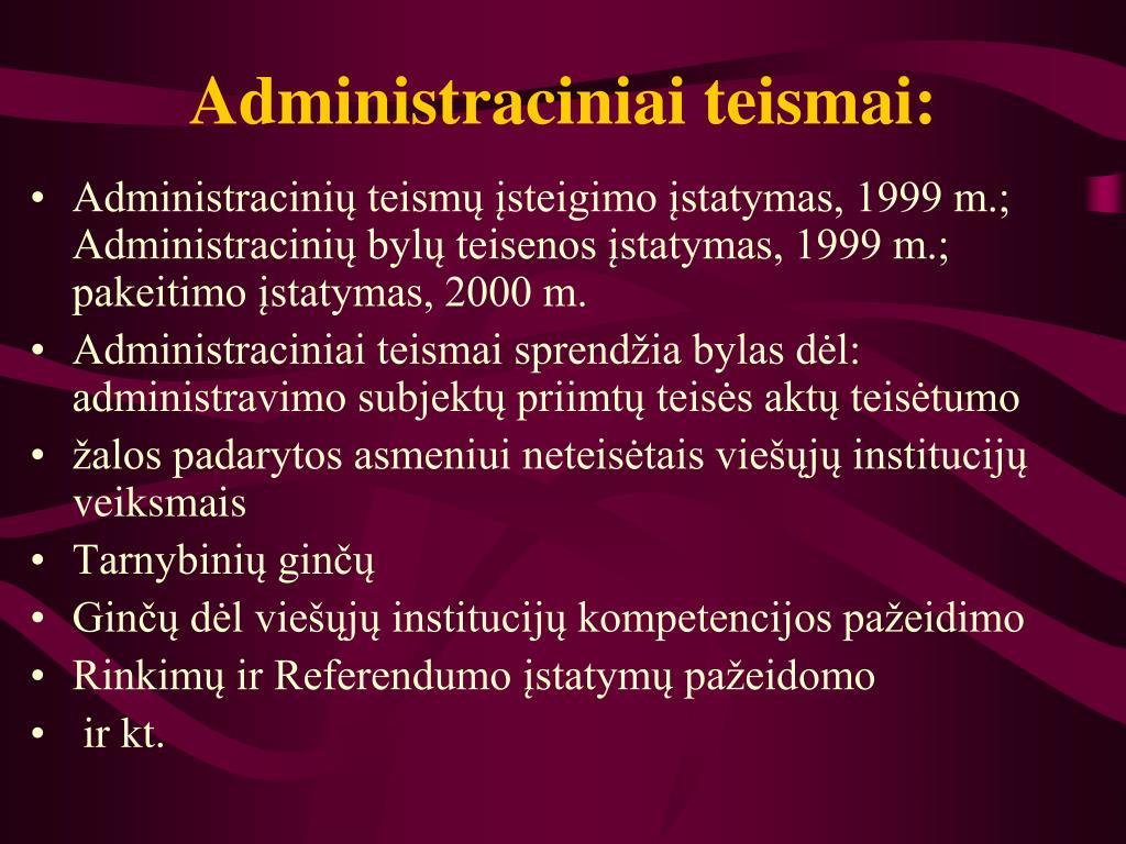 Administraciniai teismai: