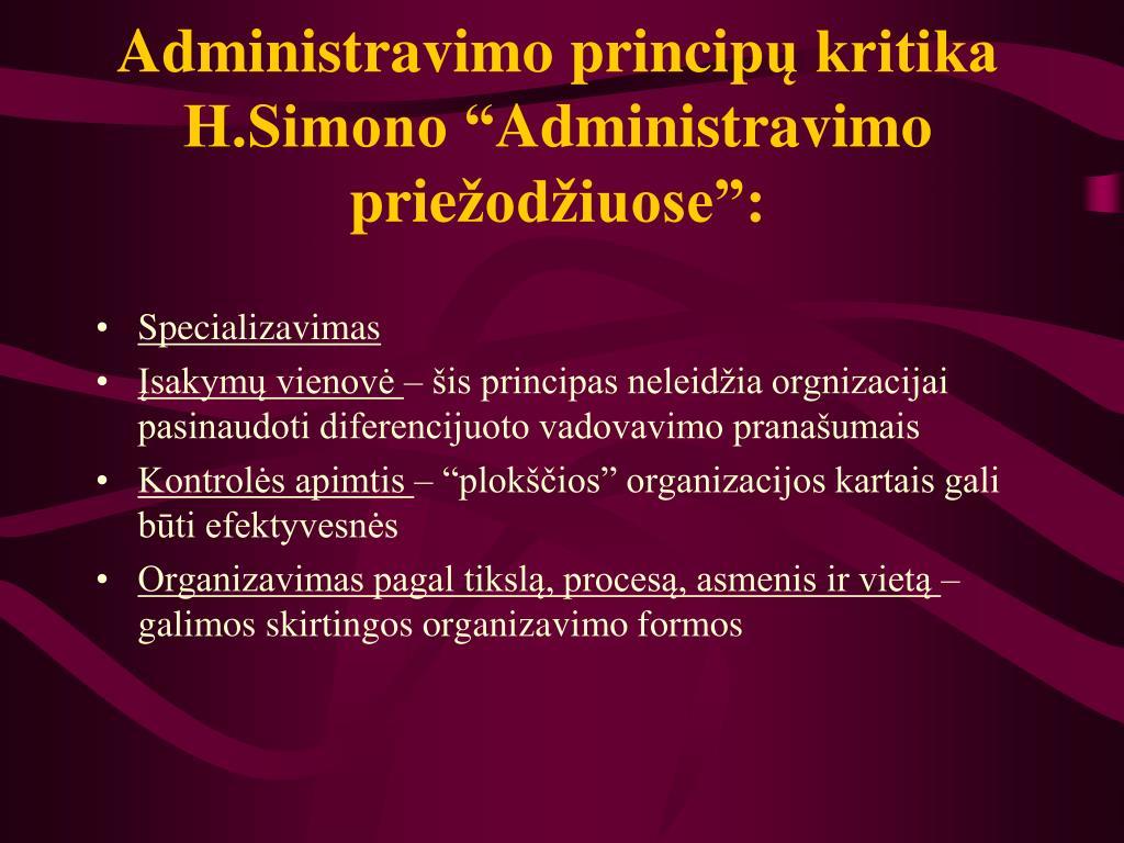 Administravimo princip