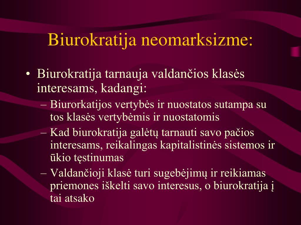 Biurokratija neomarksizme: