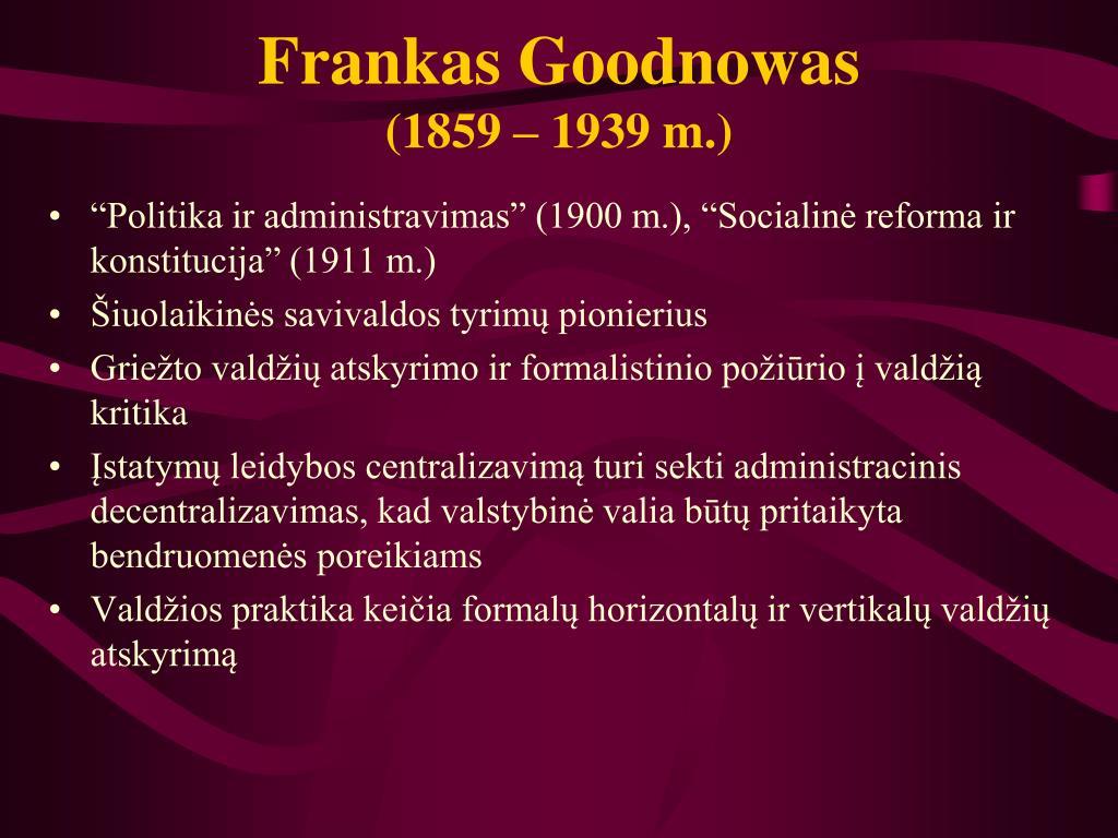 Frankas Goodnowas