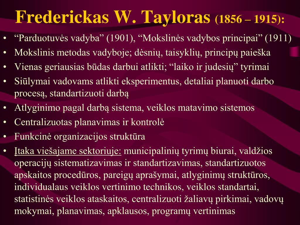 Frederickas W. Tayloras
