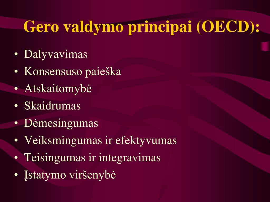 Gero valdymo principai (OECD):