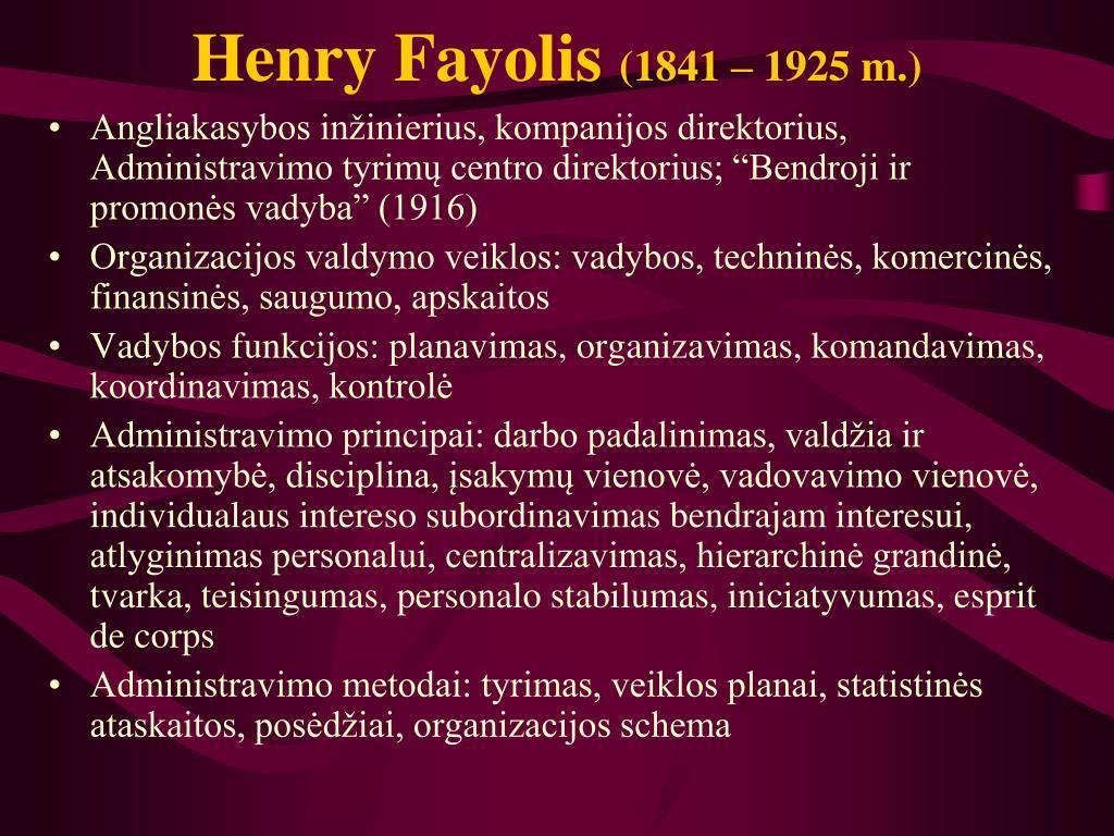 Henry Fayolis