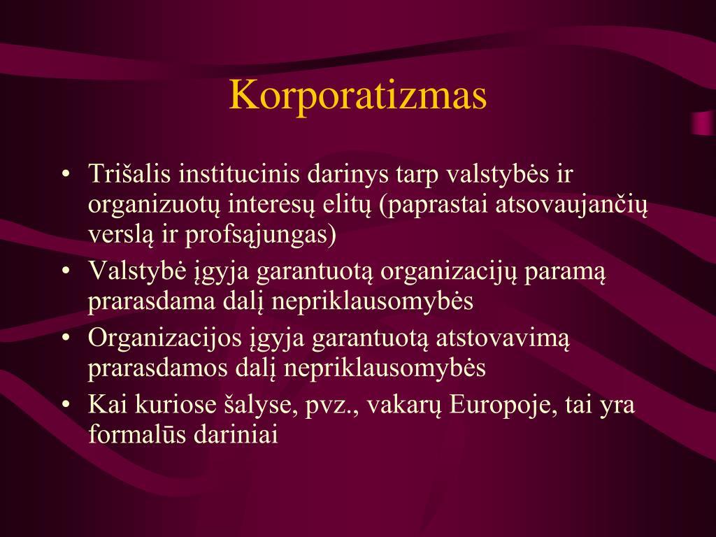 Korporatizmas