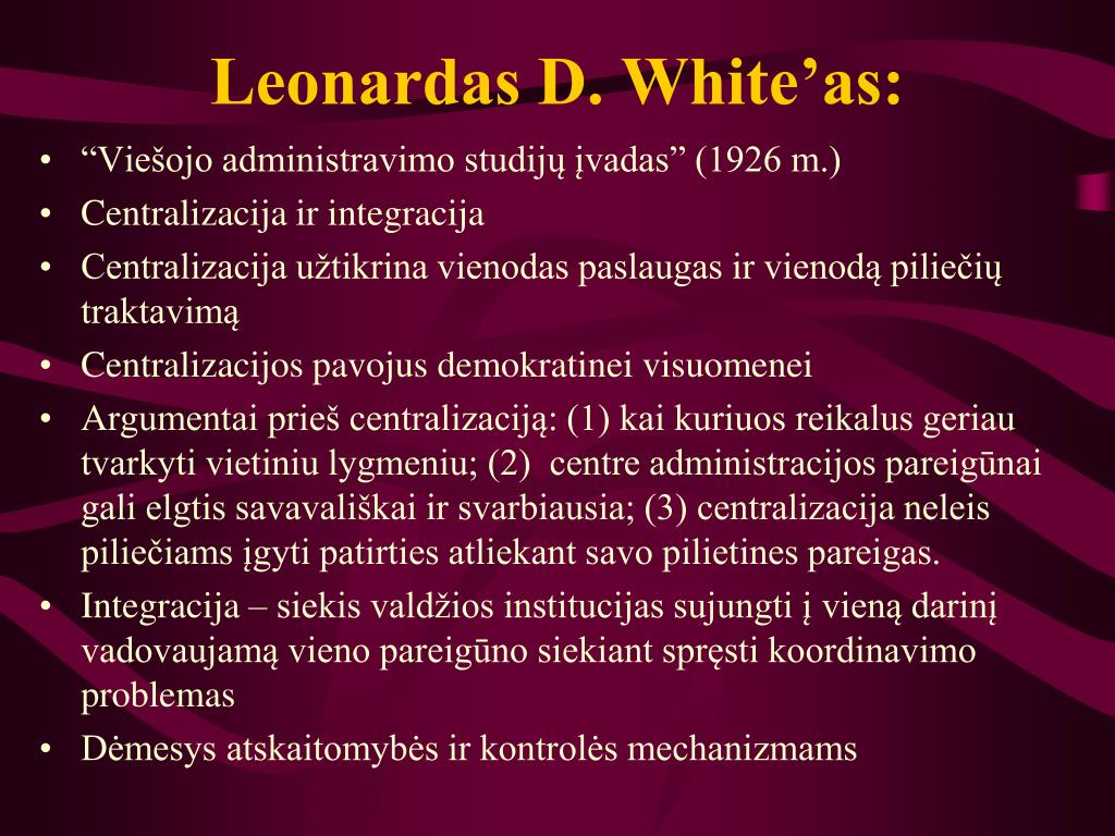 Leonardas D. White'as: