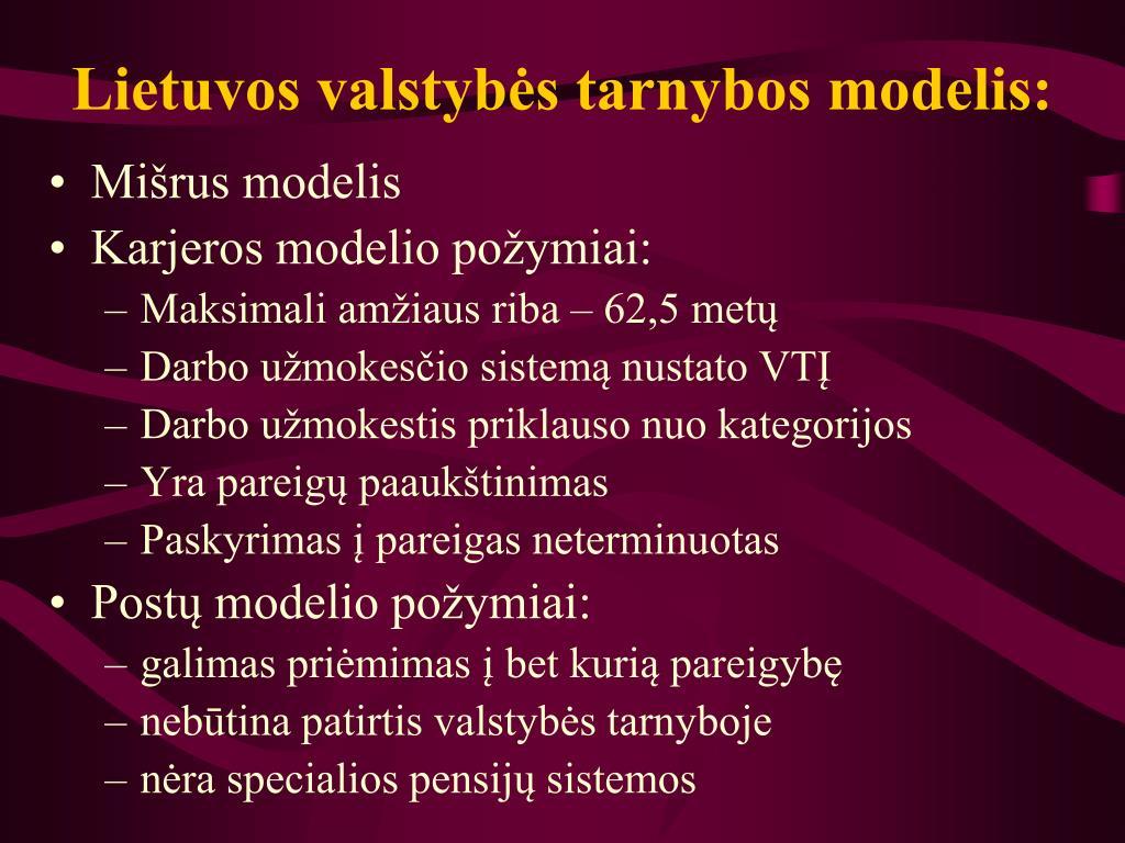 Lietuvos valstybės tarnybos modelis: