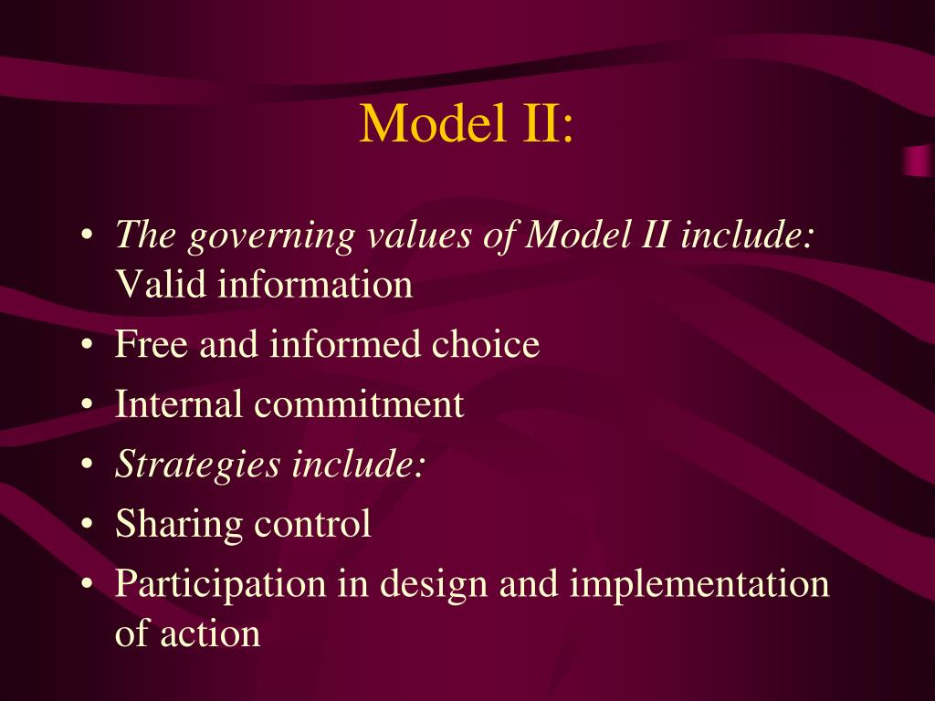 Model II: