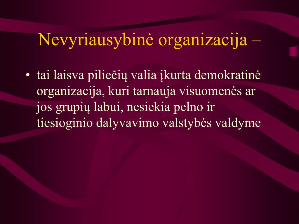 Nevyriausybinė organizacija –