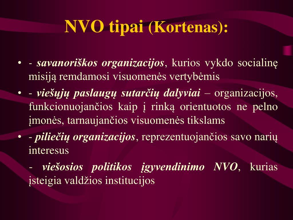 NVO tipai