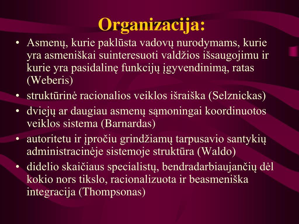 Organizacija: