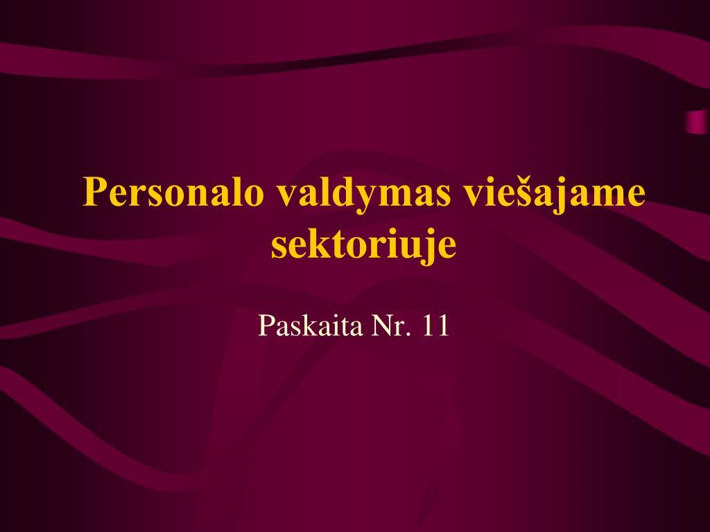 Personalo valdymas viešajame sektoriuje