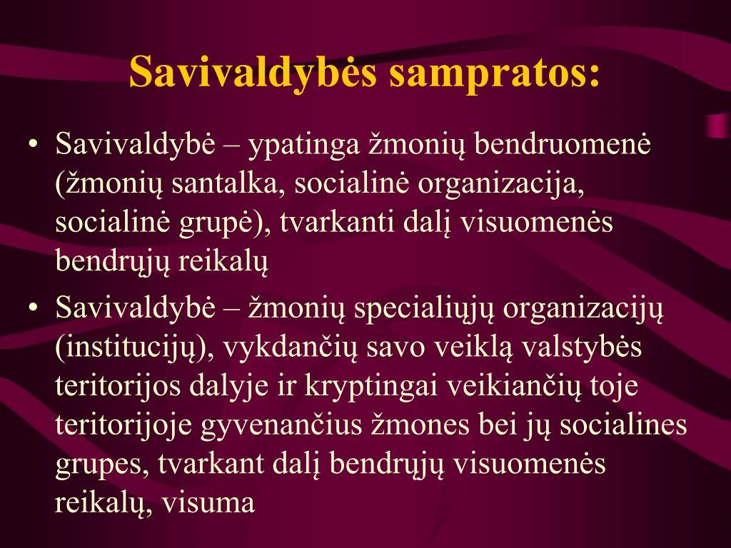 Savivaldyb