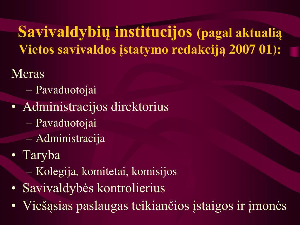 Savivaldybių institucijos